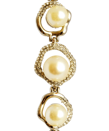 expensive: Photo of jewelry pearl bracelet isolated on background Stock Photo