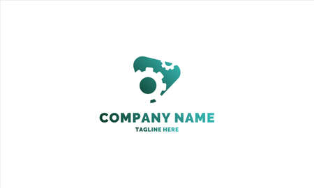 gear logo template for any company or individual