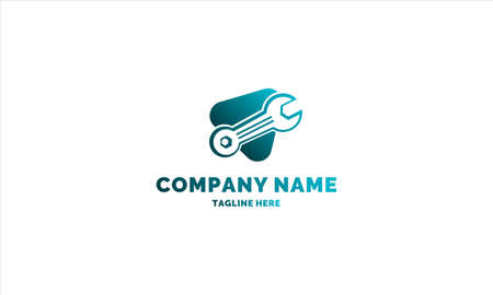 wrench logo template for any company or individual