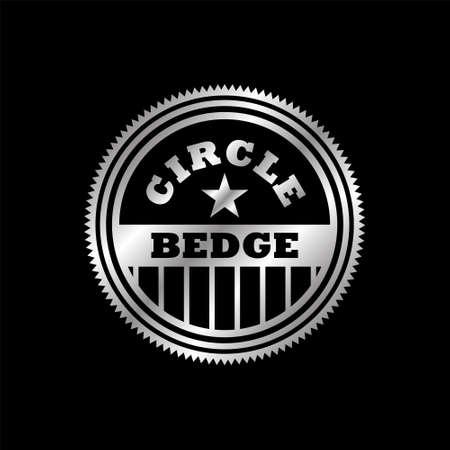 vintage circle badge retro design seal icon logo template