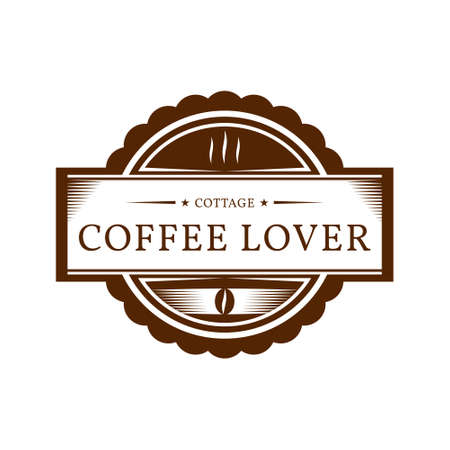 retro vintage classic badge coffee shop logo