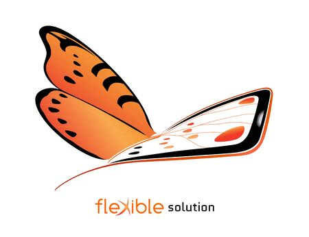 flexible: Conceptual template for promotion device with flexible display Illustration