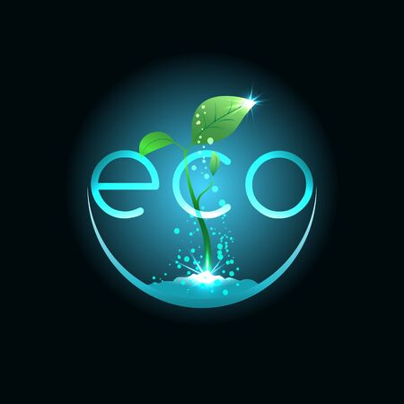 prudence: Eco food, illustration for agriculture company or environment organization Illustration