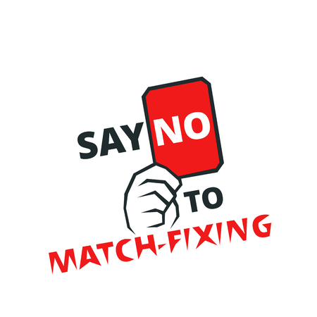 Say no to match-fixing - banner for web or print, fair play emblem, vector illustration