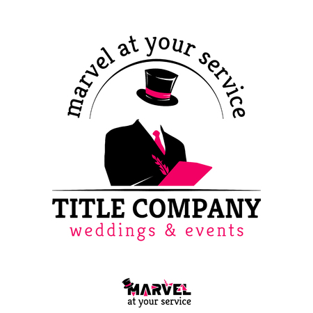 marvel: Template for weddings and events company, MARVEL at your service - icon, brand, emblem