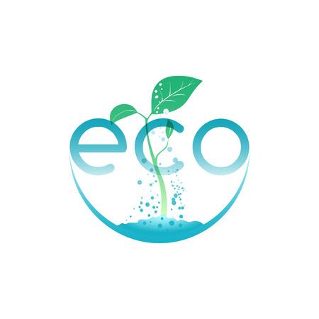 Eco food, illustration for agriculture company or environment organization Illustration