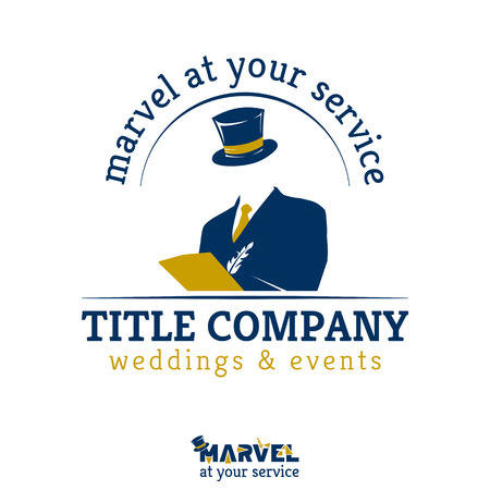 marvel: Template for weddings and events company, MARVEL at your service - , brand, emblem