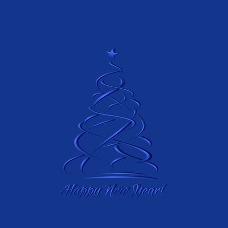 cut out paper: Blue greeting card, template for laser cut out paper