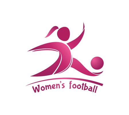 Women's football (soccer) . Vector template for soccer team, tournament, championship.
