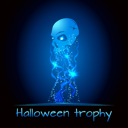 scull: Halloween award - scull trophy