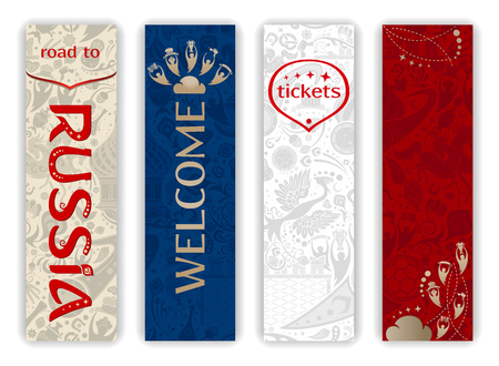 World of Russia - vertical banners set, 2018 trends, vector templates