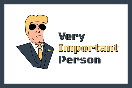 Very Important Person sign, vector template