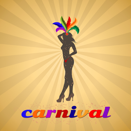 Carnival banner, traditional costume parade show, vector illustration