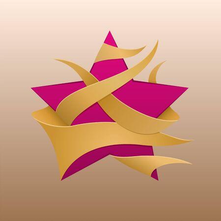 Star logo - emblem for online boutique. Market brand. Front banner store. Vector illustration.