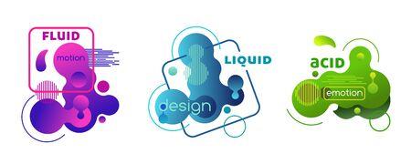Set of plastic liquid gradient elements.