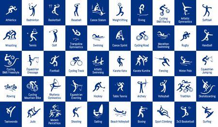 Summer sports icons set