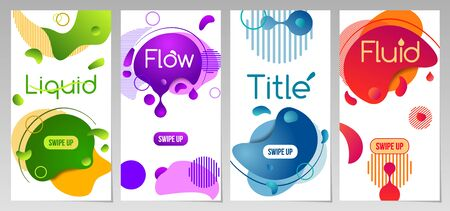 Dynamic fluid mobile banners, vector template, super sale special offer set