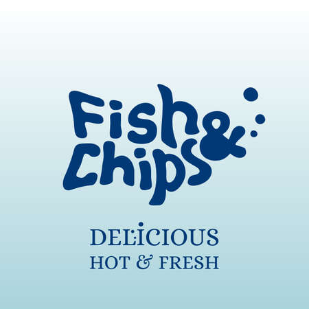 Fish and chips emblem vector template Stock Illustratie