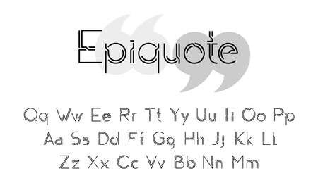 Elegant modern alphabet illustration Stock Illustratie