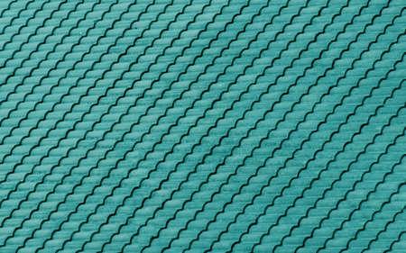 Blue sea roof tiles pattern photo