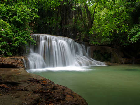Beautiful waterfall at the national park in Thailand photo