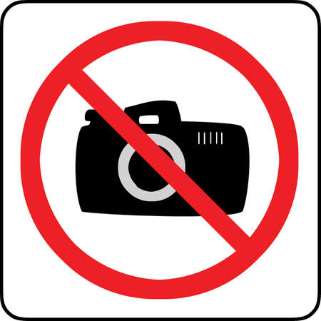 no cameras allowed: No photography allowed sign