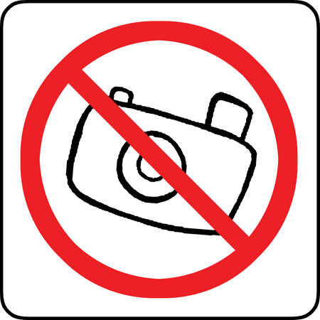 No photography allowed sign  Stock Photo - 12008347