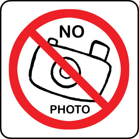 No photography allowed sign with text photo