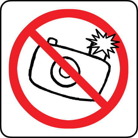 No photography with flash allowed sign  photo