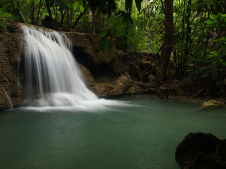 HuayMaeKhaMin waterfall at national park in Kanchanaburi, Thailand. (3)  photo