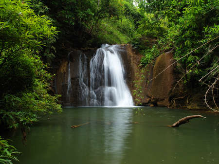 Beautiful waterfall at the Lam Khlong Ngu national park in Kanchanaburi, Thailand. (3)  photo
