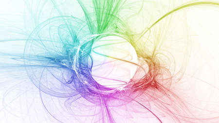 Fractal colorful widescreen wallpaper  photo