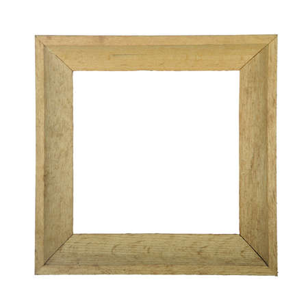 Wooden photo frame isolated on white background Stock Photo