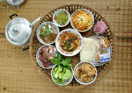 particularly: Khantok, traditionally dinner set was popular in North of Thailand, particularly Chiang Mai