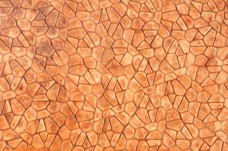 Orange concrete pavement texture on top view