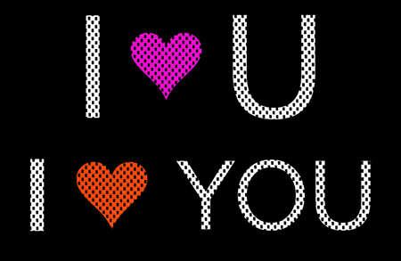 i net: i love you alphabet from foam sheet Stock Photo