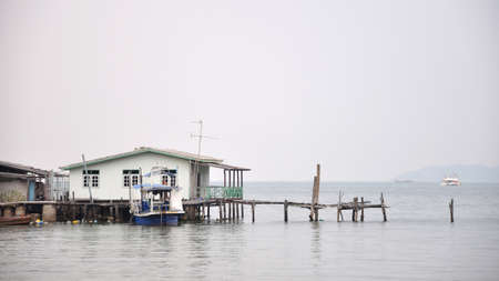 House of fisherman at the sea in Pattaya, Thailand  photo