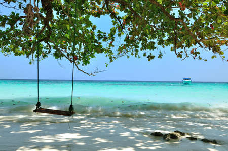 A swing on the beach at Similan island, Thailand