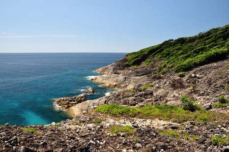 Paradise seascape viewpoint of Tachai island, Phang nga, Thailand  Stock Photo