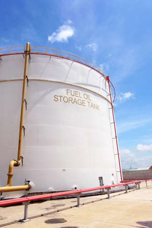 Fuel oil storage tank for combine cycle power plant                                         Stock Photo - 18648351