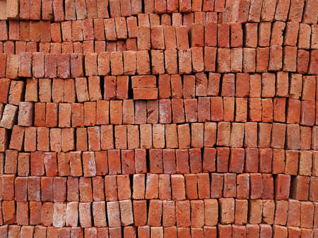 Texture of red brick for construction. Stock Photo