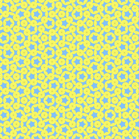 Colorful retro wallpaper with lightblue star and yellow circle.