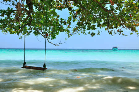 A swing on the beach at Similan island, Thailand  photo