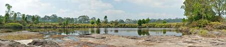 kradueng: Panorama view of Anodard pond at Phu Kradueng National Park, Loei Thailand