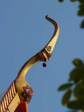 apex: Gable apex  or Chor-fah in thai , fish mouth type of thai temple