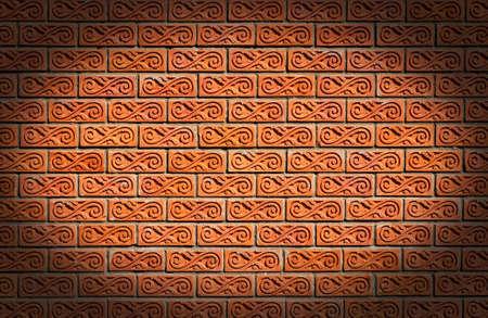 Parede de tijolo vermelho de textura constru��o