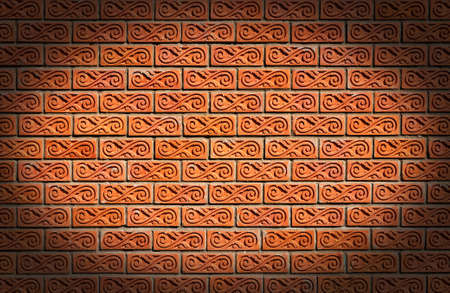 Red brick wall for construction texture