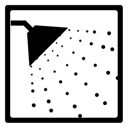 a bathing place: Shower sign