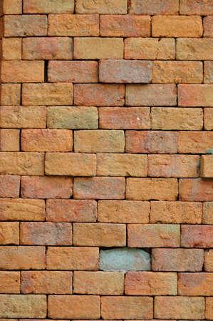 Red brick wall texture  Banco de Imagens