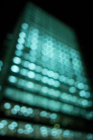 Defocus of light at the building